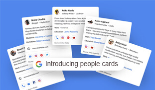 Google peoples cards